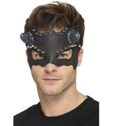 Devil Studded Eyemask, Black