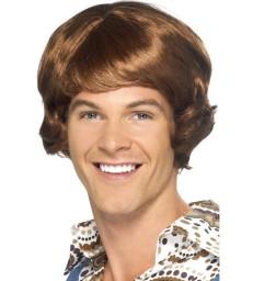 Disco Mullet Wig, Light Brown