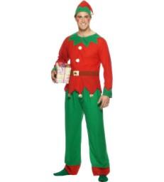 Elf Costume, Red & Green