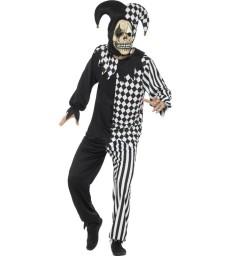 Evil Court Jester Costume, Black & White