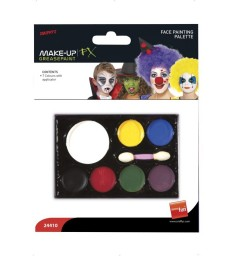 Smiffys Make-Up FX, 7 Colour Palette, Grease, Mult