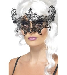 Farfalla Metal Filigree Eyemask, Black