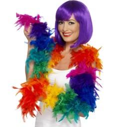 Feather Boa, 80g, Rainbow