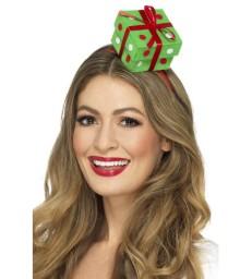 Festive Present Headband, Green