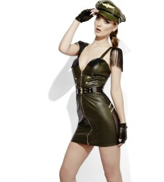 Fever Role-Play Military Chief Wet Look Costume, K