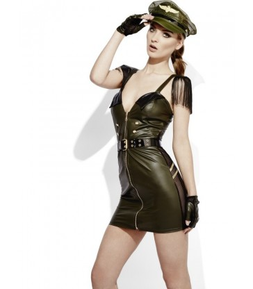 Fever Role-Play Military Chief Wet Look Costume