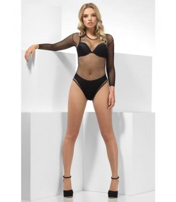 Fishnet High Leg Bodysuit2