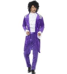 80s Purple Musician Costume, Purple