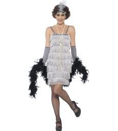 Flapper Costume, Silver