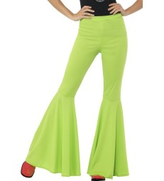 Flared Trousers, Ladies, Green