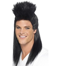 80s Rocker Mullet Wig, Long