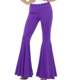 Flared Trousers, Ladies, Purple