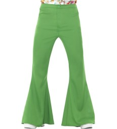 Flared Trousers, Mens, Green