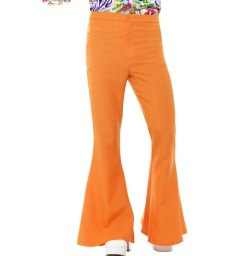 Flared Trousers, Mens, Orange