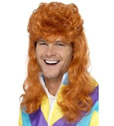 80s Super Mullet Wig, Ginger