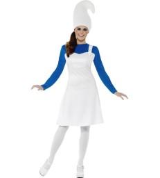 Garden Gnome Costume, Female, White