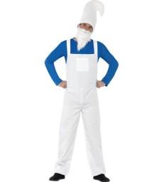 Garden Gnome Costume, Male, Blue & White