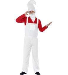 Garden Gnome Costume, Male, Red & White