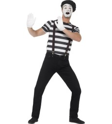 Gentleman Mime Artist Costume, Black