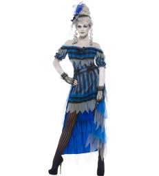 Ghostly Saloon Girl Costume