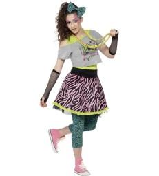 80s Wild Child Costume, Multi-Coloured