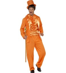 90s Stupid Tuxedo Costume, Orange