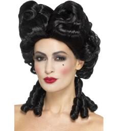 Deluxe Gothic Baroque Wig, Black
