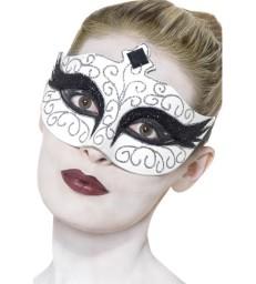 Gothic Swan Eyemask, White