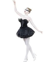 Gothic Swan Masquerade Costume, Black