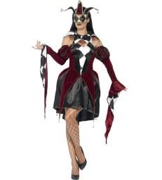 Gothic Venetian Harlequin Costume, Black