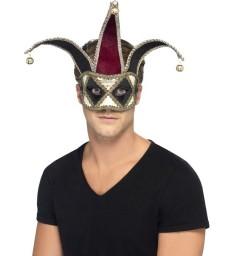 Gothic Venetian Harlequin Eyemask, Multi-Coloured