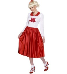 Grease Sandy Costume, Red & White