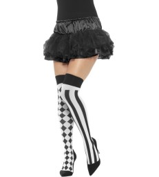 Harlequin Hold Ups, White & Black