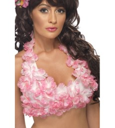 Hawaiian Flowered Halterneck Top, Assorted
