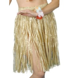 Hawaiian Hula Skirt, Yellow