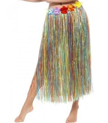 Hawaiian Hula Skirt with Flowers2