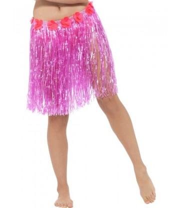 Hawaiian Hula Skirt with Flowers3