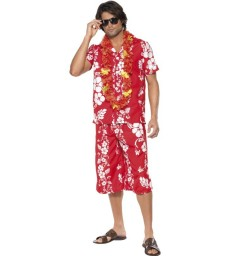 Hawaiian Hunk Costume, Red