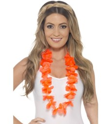 Hawaiian Lei, Neon Orange
