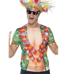 Hawaiian T-Shirt, Multi-Coloured