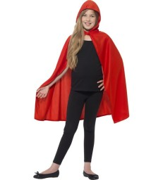 Hooded Cape, Red
