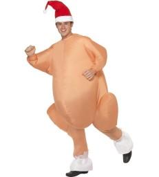 Inflatable Roast Turkey Costume, Nude