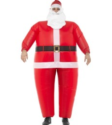 Inflatable Santa Costume, Red