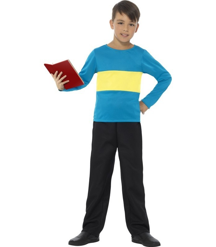Jumper, Blue with Yellow Stripe