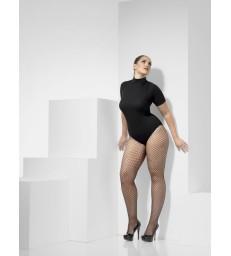 Lattice Net Tights, Black
