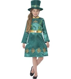 Leprechaun Girl Costume, Green