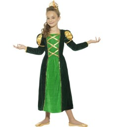 Medieval Princess Costume, Green
