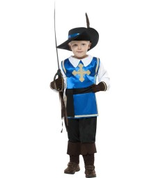 Musketeer Child Costume, Blue