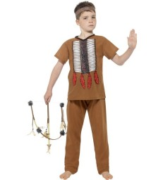 Native American Inspired Warrior Costume, Brown