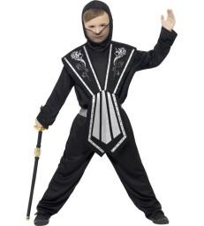 Ninja Costume, Black & Silver